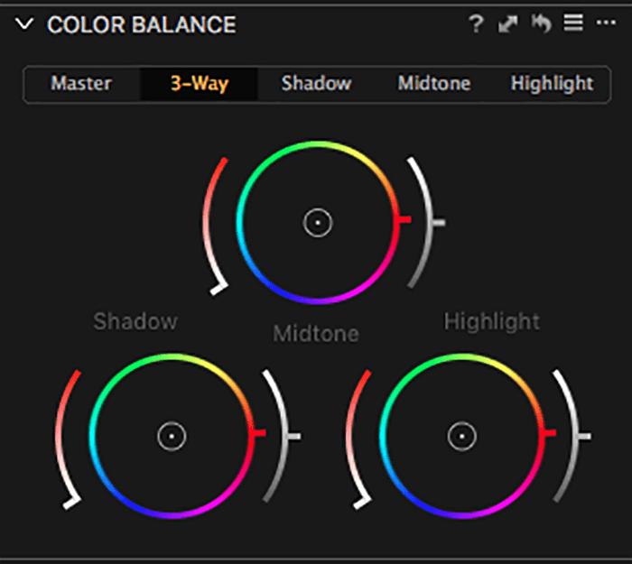 在捕获中调整色彩平衡的屏幕截图