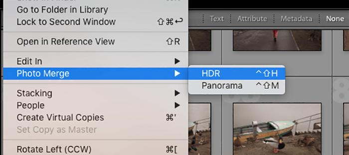 Lightroom中HDR扩展功能的屏幕截图