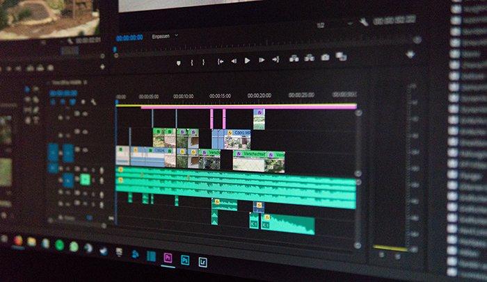 A computer editing screen