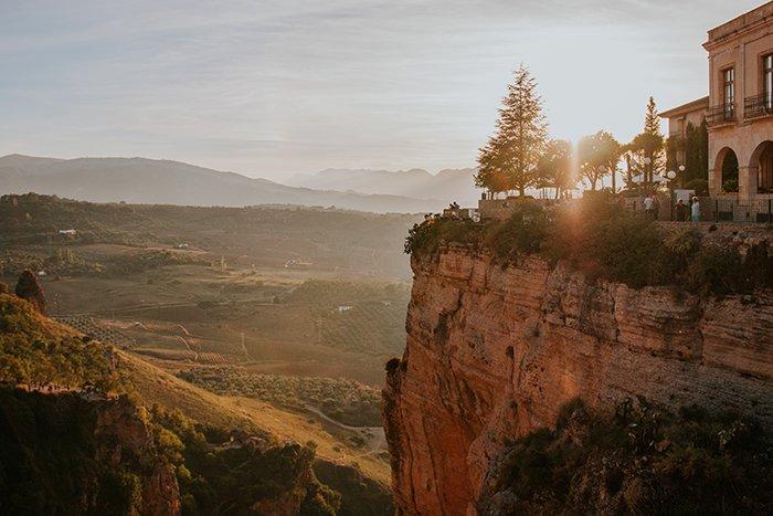 Beautiful landscape in golden hour.
