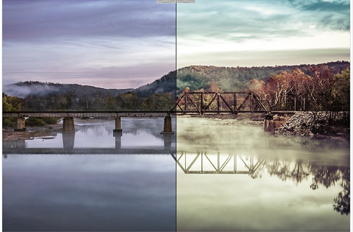 Pretty landscape photo edited with A Beautiful release Lightroom presets