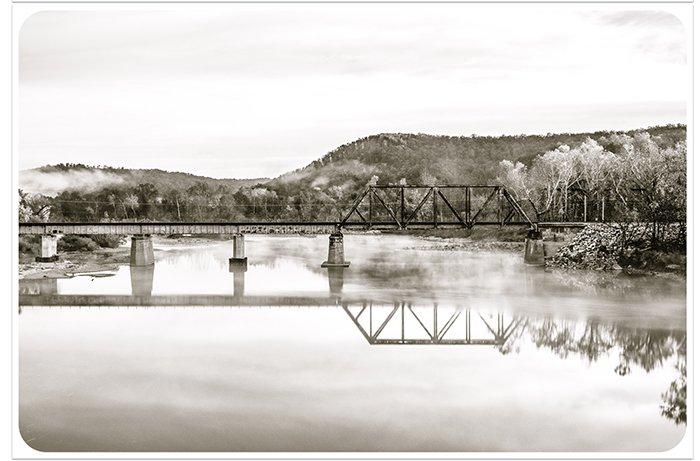 Pretty landscape photo edited with Aged B&W Print Lightroom presets