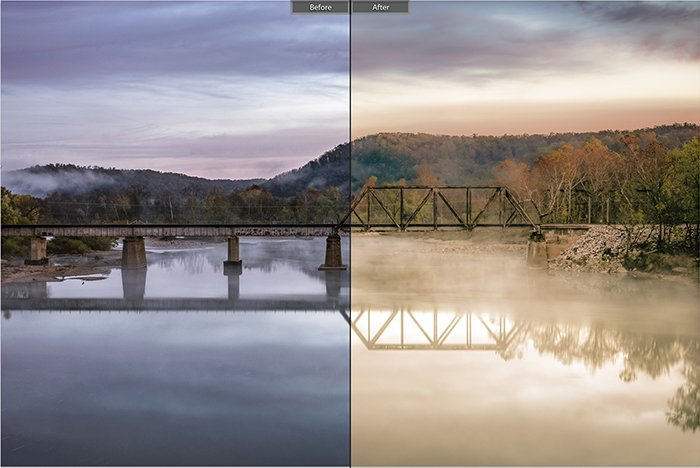 Pretty landscape photo edited with Hotel of Budapest Lightroom presets