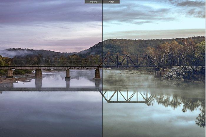 Pretty landscape photo edited with Landscape Effect 16 Lightroom presets