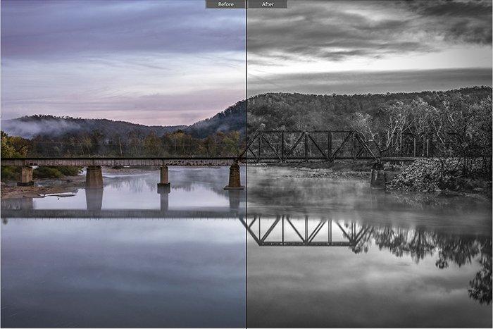 Pretty landscape photo edited with Landscape effect 21 Lightroom presets