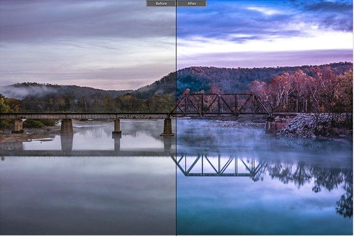 Pretty landscape photo edited with Landscape Effect 25 Lightroom presets