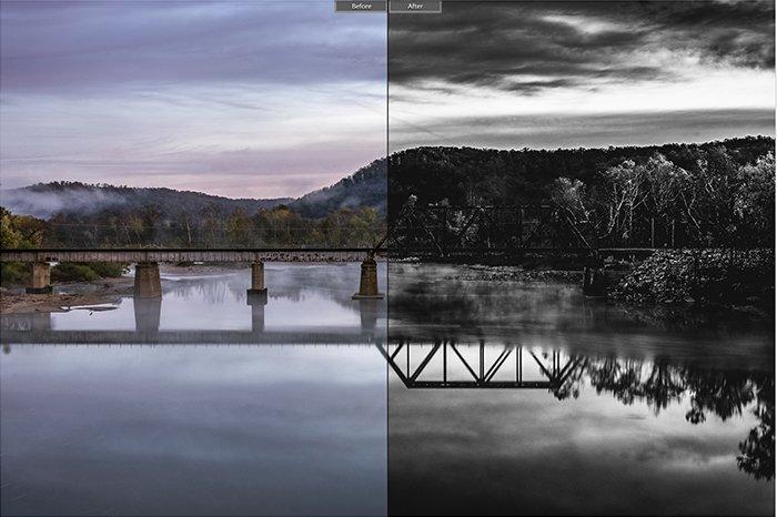 Pretty landscape photo edited with Monoceros Lightroom presets