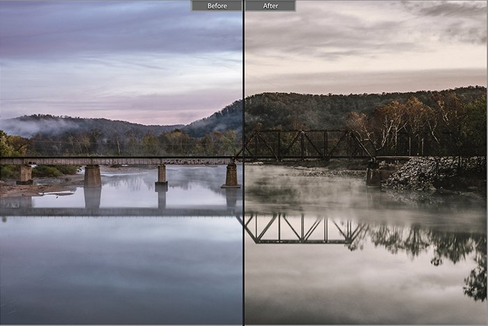 Pretty landscape photo edited with Nature Lovers Lightroom presets