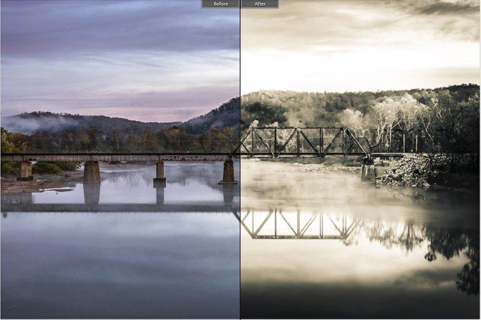 Pretty landscape photo edited with Broken Photocopier Lightroom presets