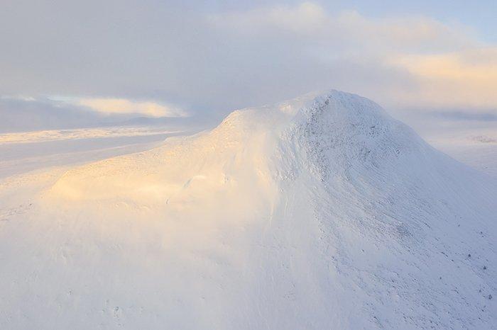 A snowy mountain top