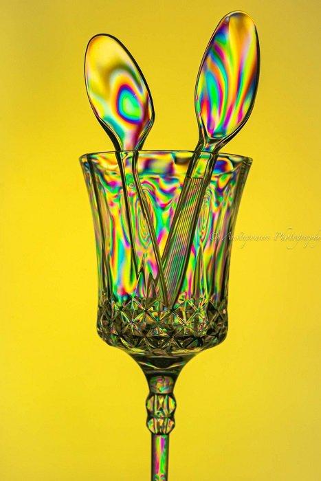 Photoelasticity plastic cutlery