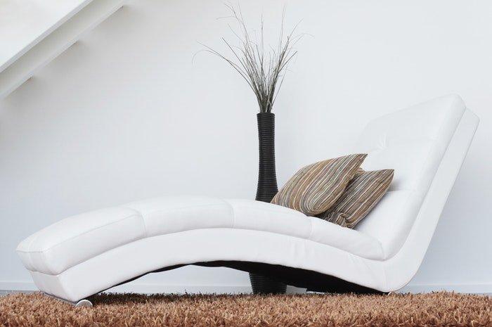 A modern white chaise longue