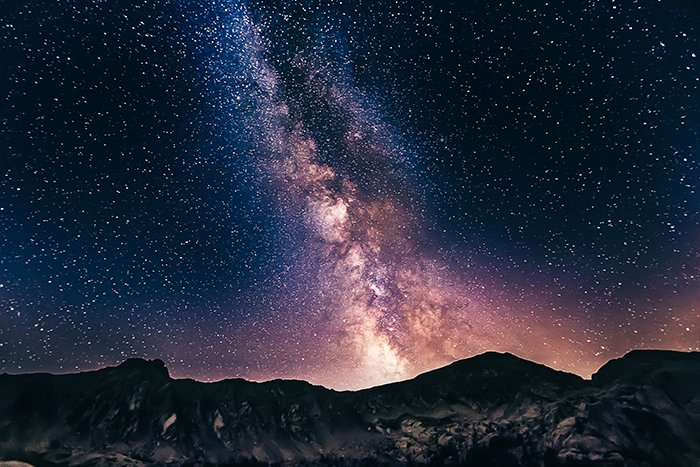 A stunning milky way time lapse shot
