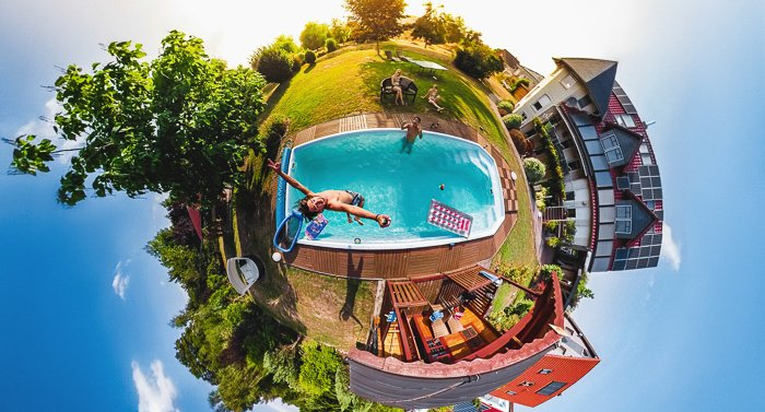 360-angle photo taken with GoPro Max Action Camera