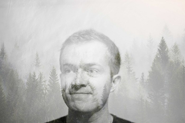 Double exposed portrait photograph by Michael A Lynch