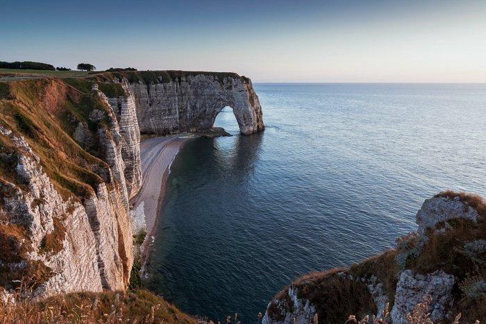 Long exposure of coastal cliffs