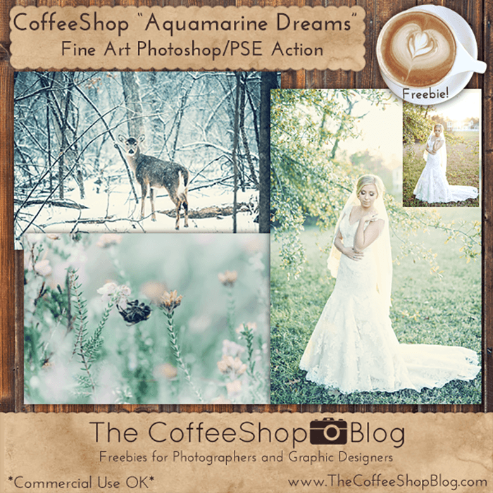 Aquamarine Dreams Photoshop Actions