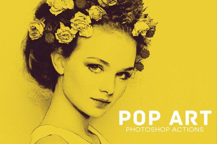 A screenshot from Pop Art Photoshop Actions