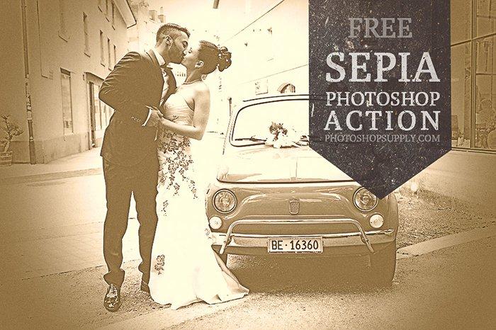 A screenshot of Sepia Photoshop Filter
