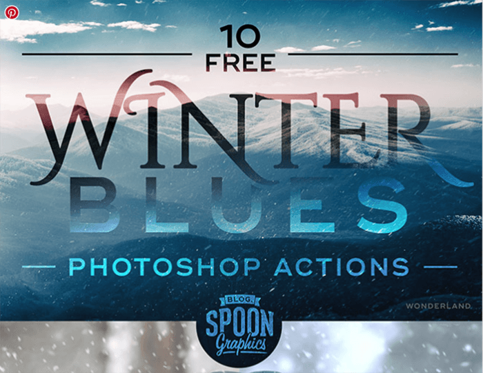 Screenshot of Free Winter Blues Photo Effect Actions