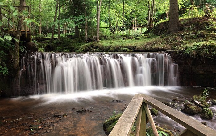 Beautiful waterfall image from 'iPhone Photo Academy' Photography Course