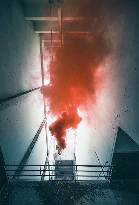 Cool smoke bomb photo