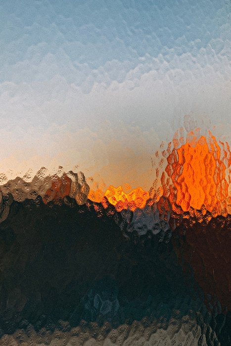 Atmospheric abstract photo shot through glass