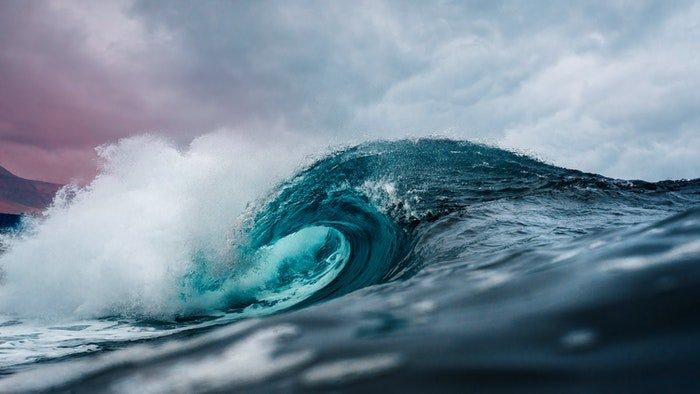 A wave at sea