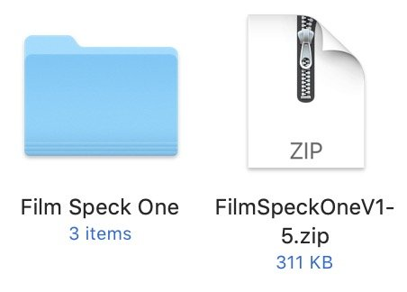 Icons for a zip file and folder