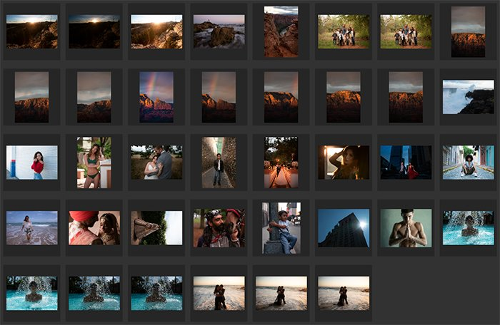 Lightroom library view