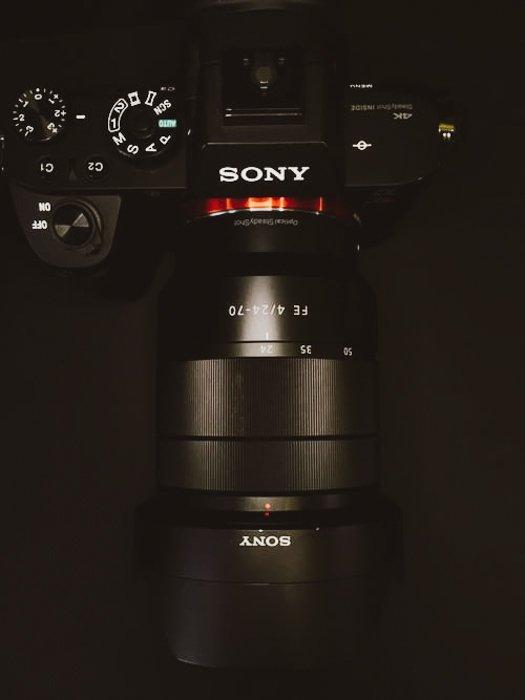 A Sony DSLR camera
