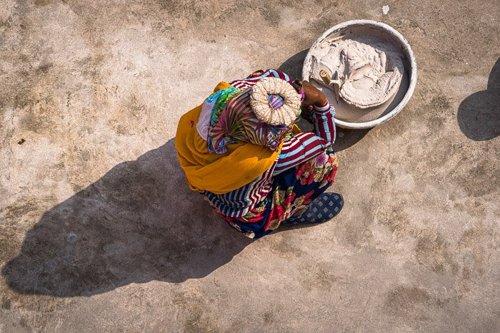 High angle travel portrait by Jenn Mishra.