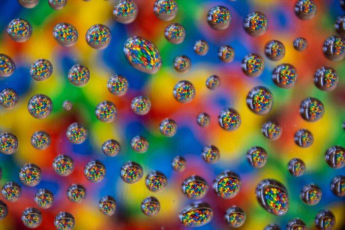 Colourful Water Drop Photograph by Robert Mason