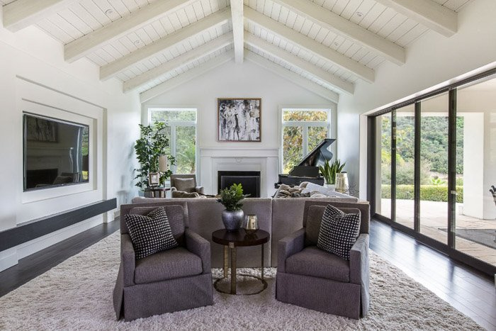 An interior photography image of a living room