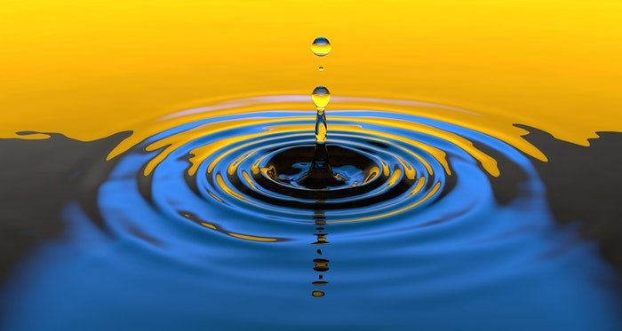 Colorful water drop photography