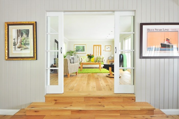 Bright and airy interior photo shot for airbnb