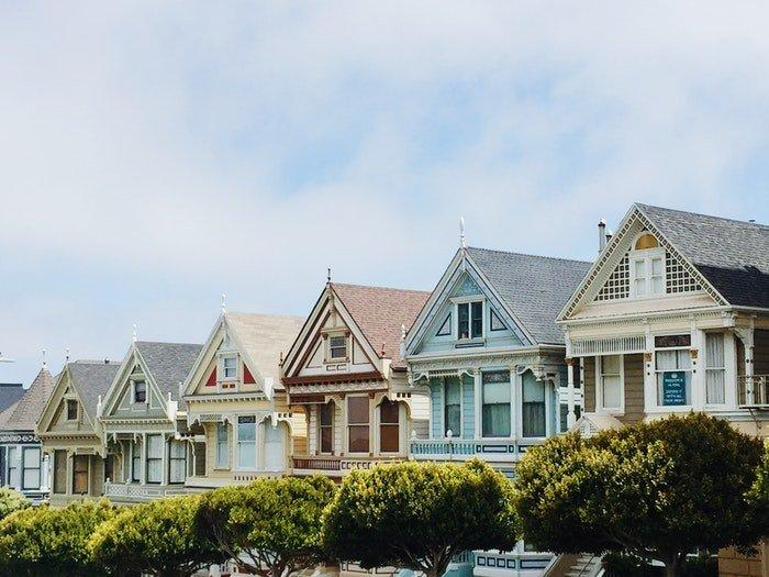A row of pretty houses