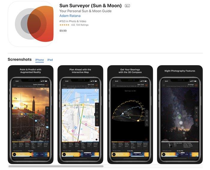 Screenshot of Sun Surveyor