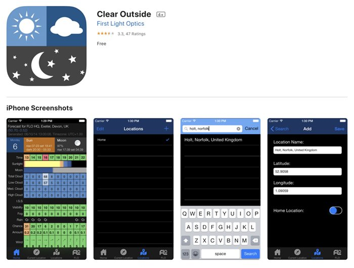 Screenshot of Clear Outisde