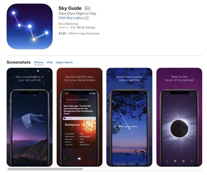 Screenshot of Sky Guide