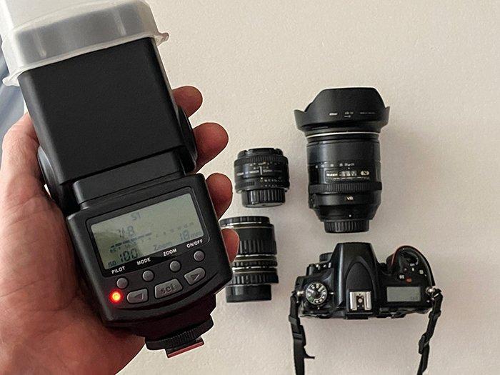 A photo of camera equipment.