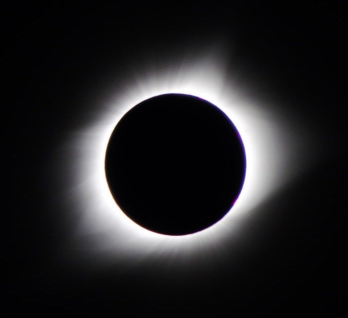 photo of the total solar eclipse