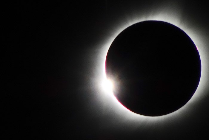 photo of the total eclipse