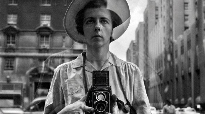 Self-portrait Vivian Maier.