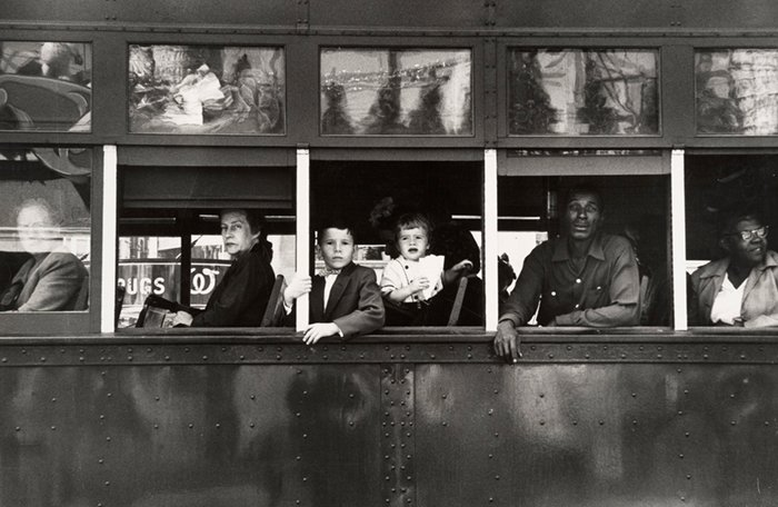 Trolley in New Orleans, 1955. Photo by Robert Frank