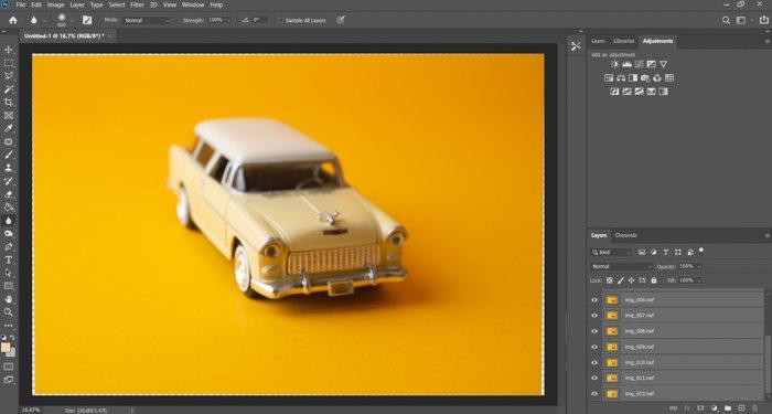 A screenshot of Adobe Photoshop interface