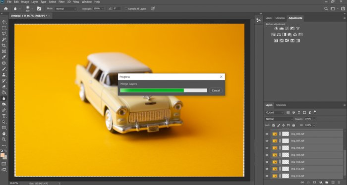 A screenshot of masking layers in Photoshop