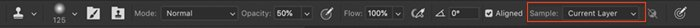Screenshot of the Clone Stamp toolbar