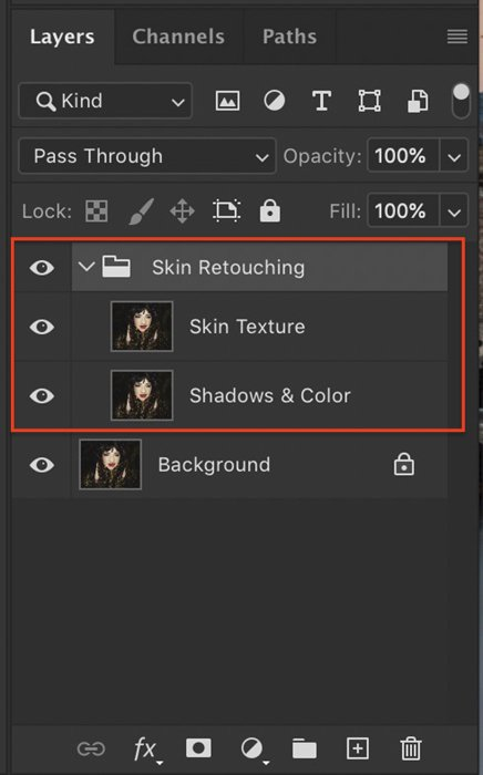 Photoshop layers panel