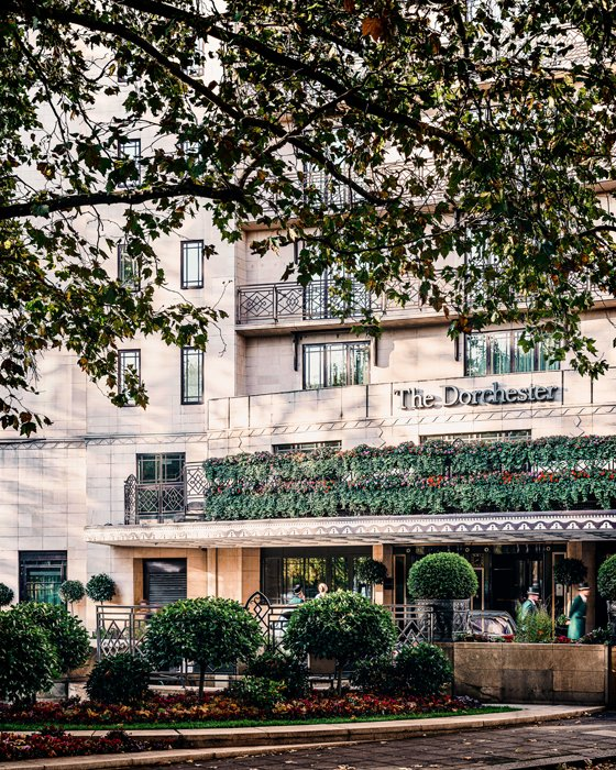 Exterior of the Dorchester hotel
